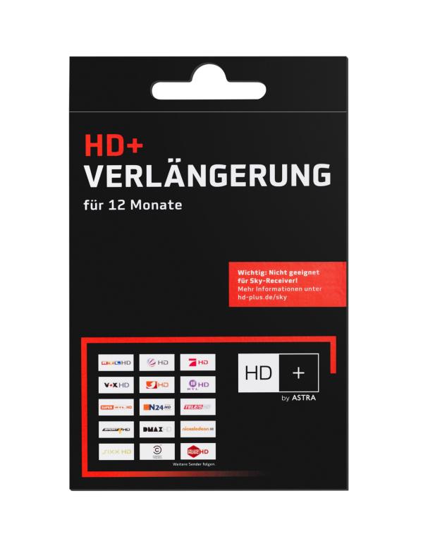 hd karte verlängern HD+ Plus Verlängerung Code 12 Monate HDTV Astra Sender für Karte