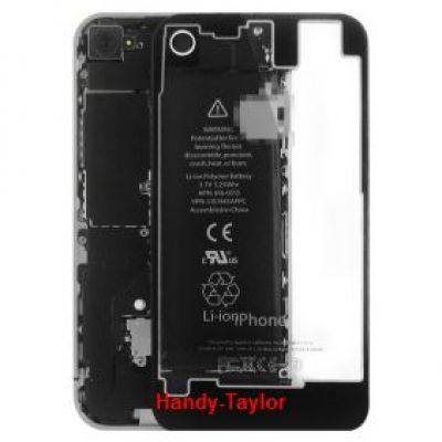 iPhone 4 Back Cover transparent (farbwahl)
