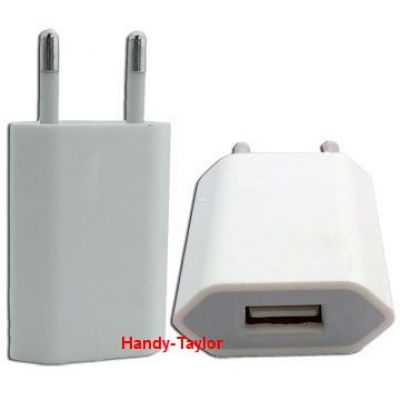 iPhone USB Netz-Stecker Adapter (Weiß/Blau)