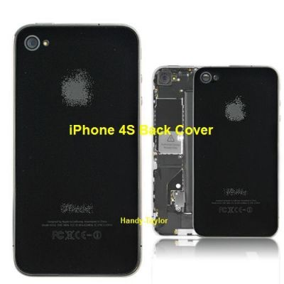 iPhone 4S Back Cover Schwarz mit Glas