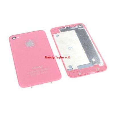 iPhone 4 Back Cover Rosa mit Glas