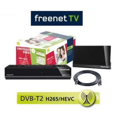 DVB-T2 TELESTAR digiHD TT 9 iR HDTV Receiver SET + freenet TV