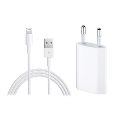 iPhone USB Netz-Stecker + Lightning-Kabel
