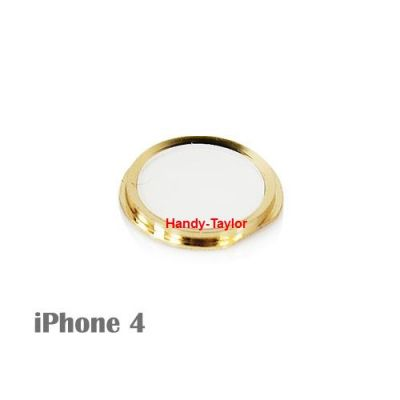 iPhone 4 Home-Button im iPhone 5S Look (Weiß/Gold)
