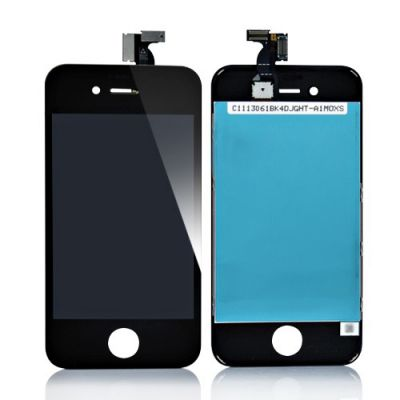 iPhone 4S LCD Display Schwarz mit Touch Screen