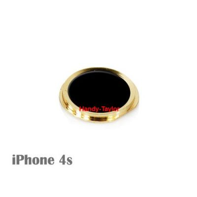 iPhone 4S Home-Button im iPhone 5S Look (Schwarz/Gold)
