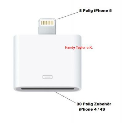 iPhone 5/6/iPad Mini Lightning Adapter 8 auf 30-polig